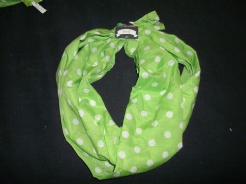 B22 Patricks Irish Polkadots Green w// white polka dots Green Scarf St
