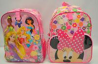 Disney Store Princess Rapunzel Jasmine Aurora Snow White Tiana / Minnie Backpack