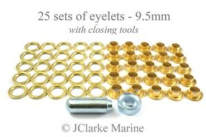 Boat-Cover-Canopy-Fittings-Eyelet-kit-9-5mm-with-tools-brass