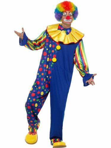 Deluxe Clown Men/'s Fancy Dress Costume