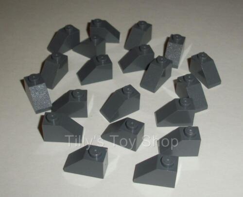 ID 3040 20 1x2 Stud Slope Roof Tile Bricks Dark Stone Grey Lego NEW
