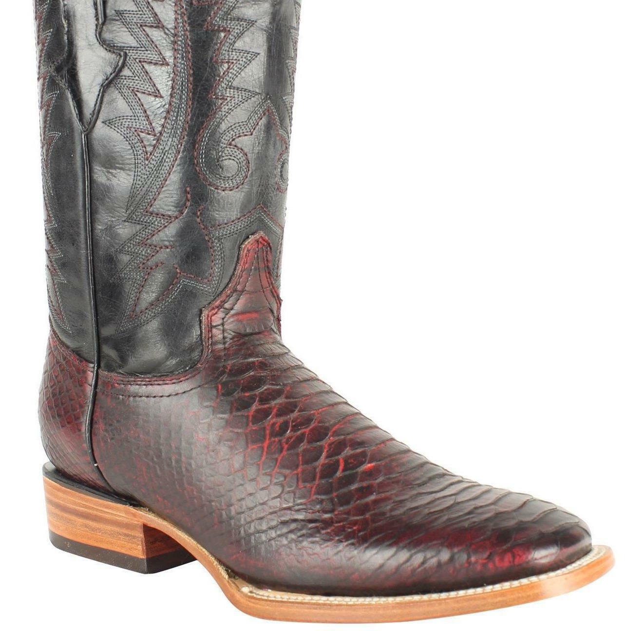 Men's Quincy Python Print Boots Square Toe Handcrafted