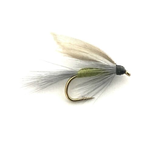 6 x Blue Wing Olive Fly Fishing Wet Flies For Trout and Salmon
