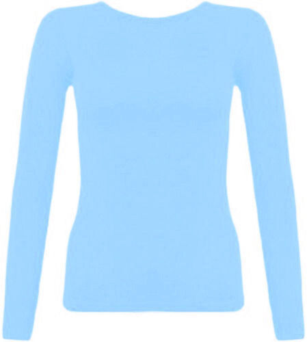 11-12 Years, Baby Pink Kids Plain Basic Top Long Sleeve Girls Boys Uniform T-Shirt Tops 2-13 Years