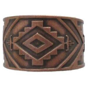 Solid-Copper-Ring-Southwestern-Handmade-Western-Jewelry-Southwest-Adjustable-New