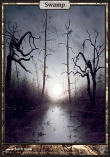 1x Swamp - Foil Light Play 138 English Unhinged MTG Magic