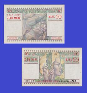 Reproduction Saar 10 mark 1947 UNC