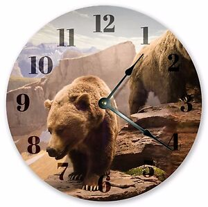 10 5 Quot The Grizzly Bear Clock Large 10 5 Quot Wall Clock
