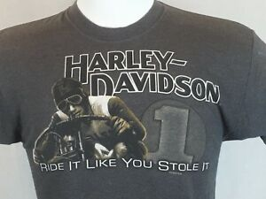 Harley Davidson Motorcycles Medium Gray T-Shirt Barnetts Las Cruces