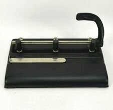 Vintage 2 Or 3 Hole Punch By Master Products Steel 3 25 Black Made In Usa