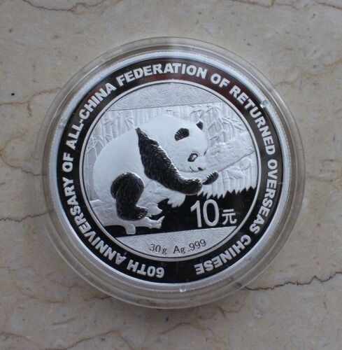 Returned Overseas Chinese China 2016 Silver 30g Commemorative Panda Coin