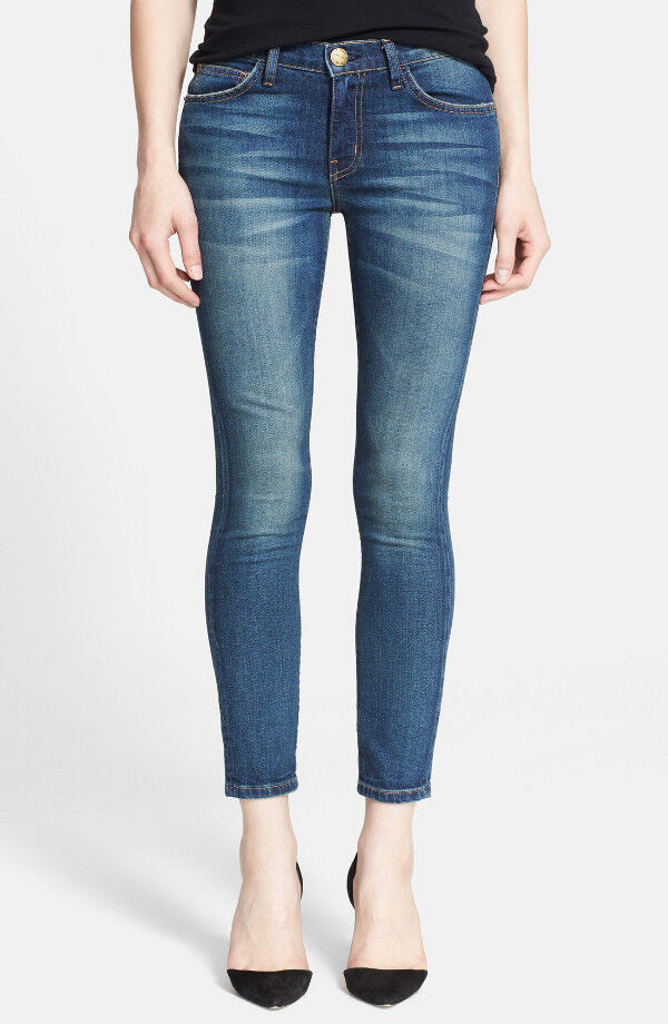 NWT Current Elliott The Stiletto Mid-Rise Cropped Skinny Jeans in Darcy Size 25