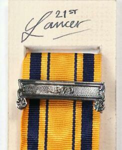 SOUTH AFRICA SERVICE MEDAL RIBBON CLASP ANGLO ZULU WARS 1879 MILITARY AWARDS