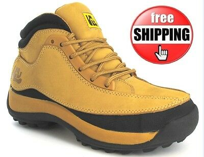 MENS SAFETY BOOTS LEATHER OUTDOOR STEEL TOE CAP WORK SHOES TRAINERS UK SIZE 3-13