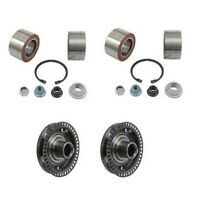 Vw Jetta Golf Set Of 2 Front Wheel Bearing Kit And Set Of 2 Front Axle Hub on sale
