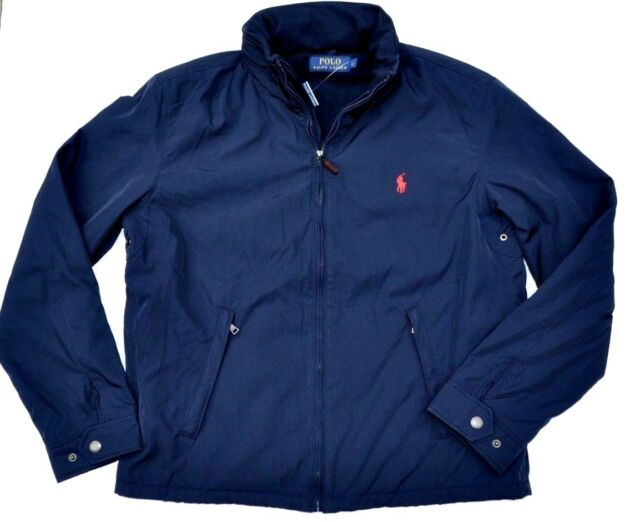 f770107636 Polo Ralph Lauren Men's Pony Perry Lined Jacket Coat XL Navy/red