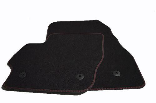 Fußmatten für Mazda 3 MPS Bj.2009-2013 Original Doppelnaht rot-rot 2-teilig