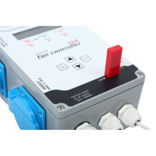 Digitaler Klimacontroller GSE Klima-Regler Temp Luftfeuchte Zu-+Abluft 16A