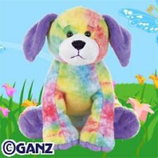 Webkinz Tie Dyed Puppy HM385 NEW with attached UNUSED code FREE Shipping!!!