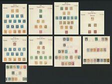 FRANCE STAMPS 1853-1878 9 ALBUM PAGES INC RANGES OF NAPOLEON & BORDEAUX CERES
