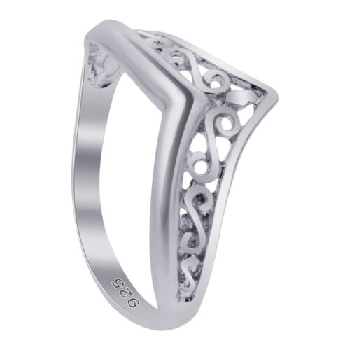 925 Sterling Silver Filigree Design Thumb Ring Size 7-13