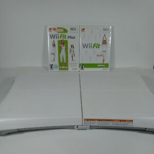 Nintendo Wii Balance Board With Wii Fit & Fit Plus  Wii Bundle 2 Lot Games