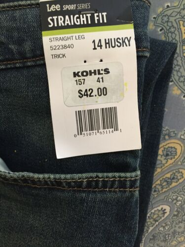 and 16 Retail $42.00 14 NWT Lee Straight Leg Boys Husky Blue Jeans Sizes 12