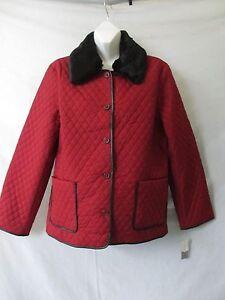 manteau veste matelassé casual Charter XL 188 Nwt bouton Club foncé rouge bordeaux X7Iq8Zw