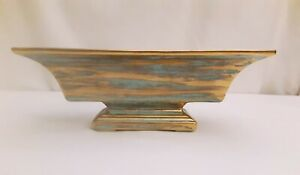 Vtg Gold Brushed Planter Console Art Pottery Mid Century Looks Like Stangl