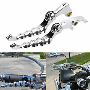Chrome-Skull-Skeleton-Zombie-Brake-Clutch-Lever-For-1988-10-Honda-Shadow-600-400