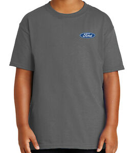 Licensed Ford Logo On Left Chest Kid S T Shirt Ford Emblem Tee For Youth 1091p Ebay