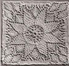 Vintage Knitting PATTERN Motif Bedspread Penn Dutch