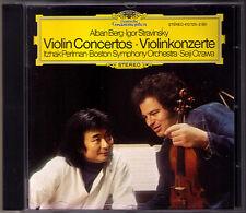 Itzhak PERLMAN & Seiji OZAWA: BERG STRAVINSKY Violin Concerto CD Memory of Angel