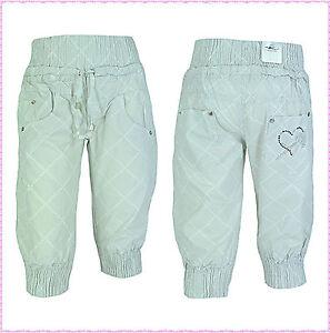Kinder Mädchen Sommer Capri kurze Hose Bermuda Shorts Pumpcapri NEU 110