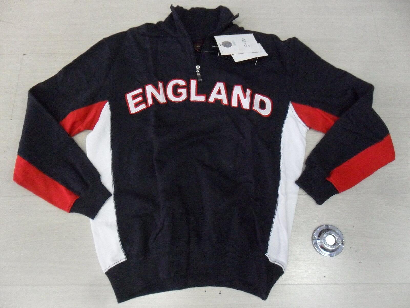 1099 MUD&GLORY XL TG XL MUD&GLORY SWEATSHIRT HALBE ZIP ENGLAND ENGLAND SCHWEIß TOP- 90ee8e