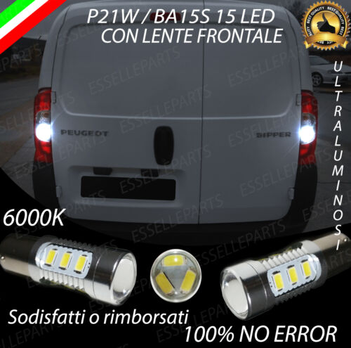 COPPIA LUCI RETROMARCIA 15 LED P21W BA15S CANBUS PEUGEOT BIPPER NO ERROR
