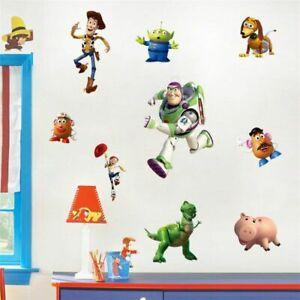 Fashion-Ensemble-Complet-TOY-STORY-chambre-vinyle-Wall-Art-Stickers-UK