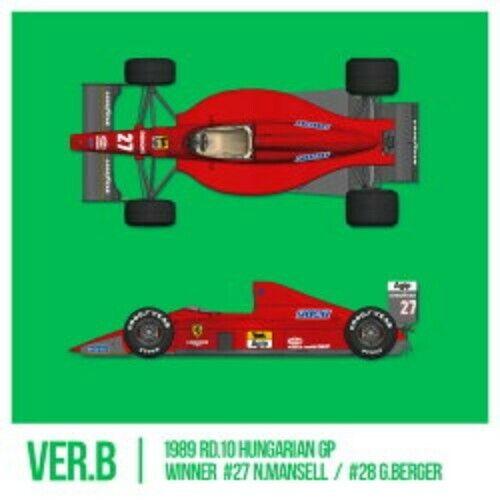 Mfh 1 12 Ferrari F1-89 (640) Ver.b Late Tipo Multi Materiale Kit K-695 W  Decal