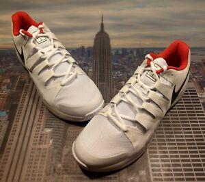 c34c1a5368f Nike Zoom Vapor 9.5 Tour QS White Metallic Grey-Siren Red Size 14 ...