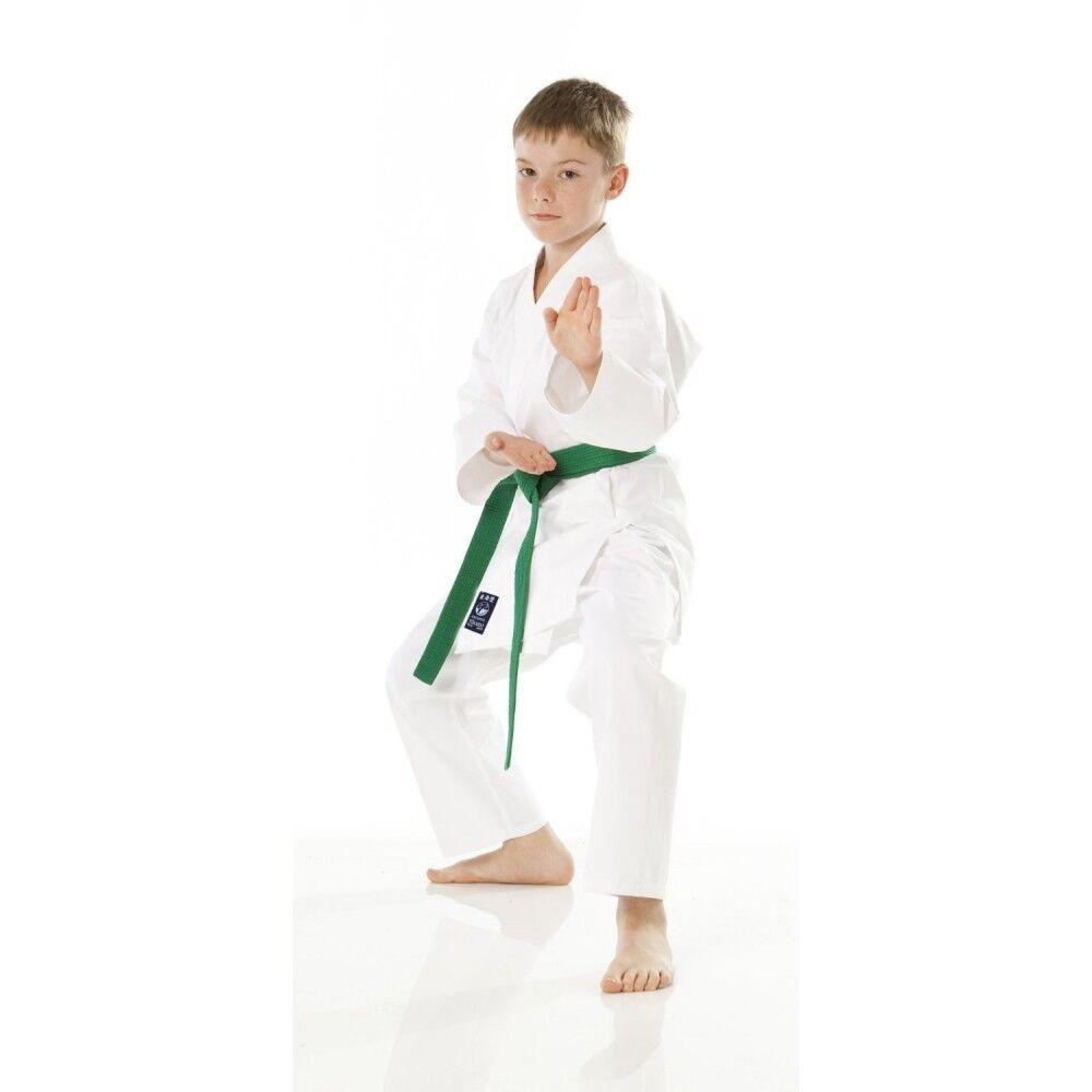 New Tokaido Shoshin Pro Karate Gi 7oz White Karate Uniform Set w  White Belt