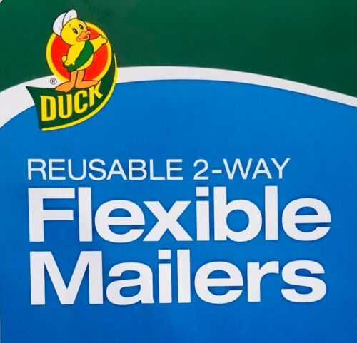 x 18 3//4 in. Duck® Brand Reusable 2-Way Flexible Poly Mailers 15 Pack 14 1//4 in