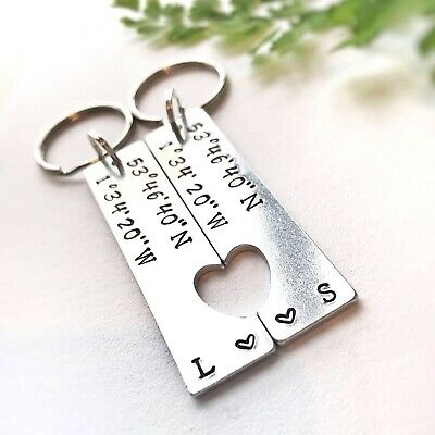 moving gift Gift For Boyfriend Personalised Map Locations Keyring Keychain Gift Key Chain His /& Hers Housewarming Gift gift for couple