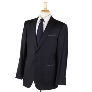 NWT-3995-GIORGIO-ARMANI-039-Wall-Street-039-Black-Wool-Cashmere-Suit-Slim-42-R