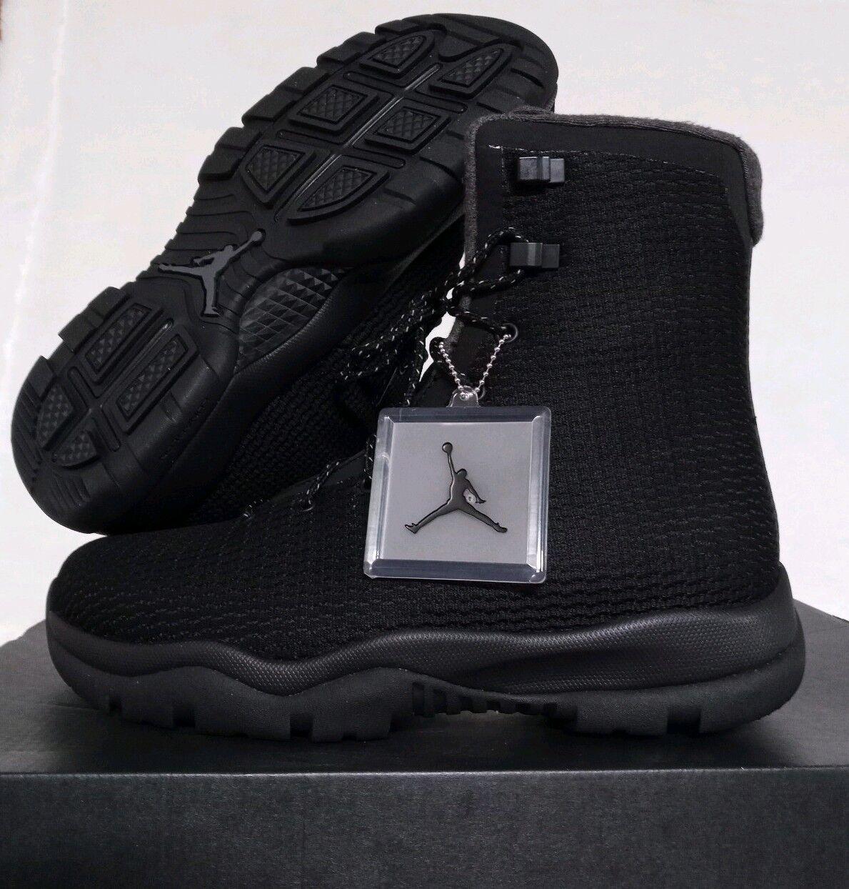 SIZE 9 MEN'S NIKE AIR JORDAN BLACK FUTURE BOOTS 854554 002 BLACK JORDAN DARK GREY WATERPROOF c59b91