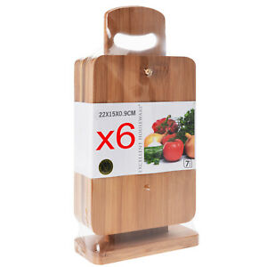 Details About Wooden Chopping Boards Bamboo Cutting Slicing Display Stand Fruit Veggies Meat