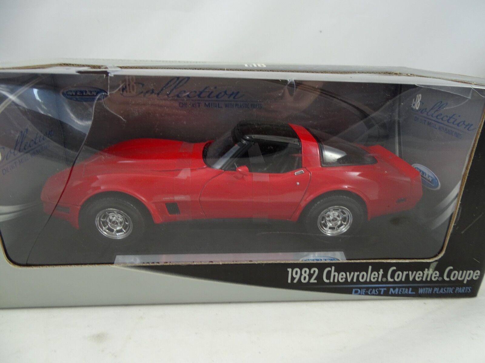 1 18 Welly w - 1982 Chevrolet Coupe rojo-rareza