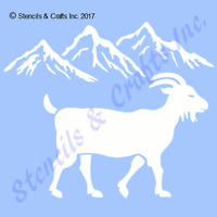 Goat Mountains Stencil Northwoods Big Stencils Template Art Craft Paint