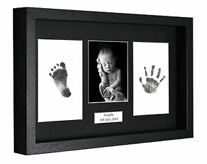 Personalied-Handprint-Foot-Print-3D-Box-Frame-Kit-Baby-Shower-Gift-Christening