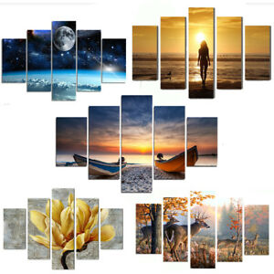 5Pcs-Unframed-Canvas-Print-Painting-Modern-Art-Scenery-Picture-Home-Wall-Decor