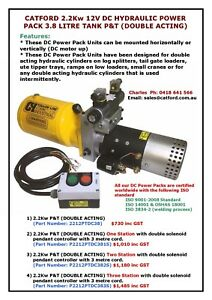 12V-DC-Double-Acting-Hydraulic-Power-Pack-2-2Kw-3-8Ltr-Round-Oil-Tank